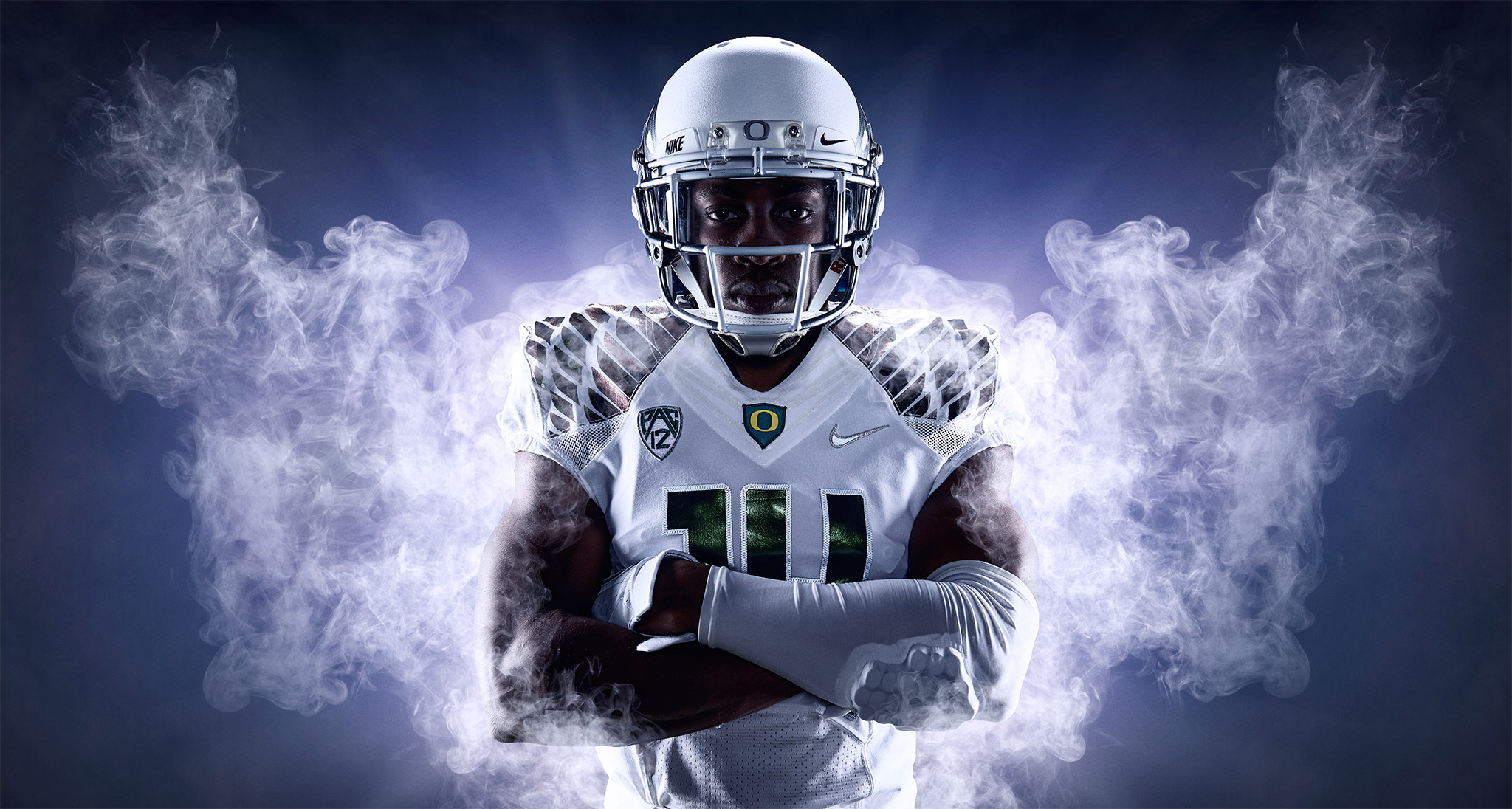 Portrait of Duck Cornerback Ifo Ekpre-Olomu | Zach Ancell Photography