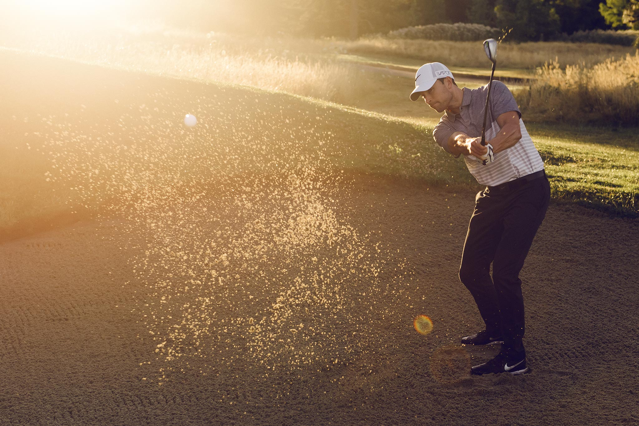 Golfer Blasts Shot Out of the Sand | Zach Ancell Photography