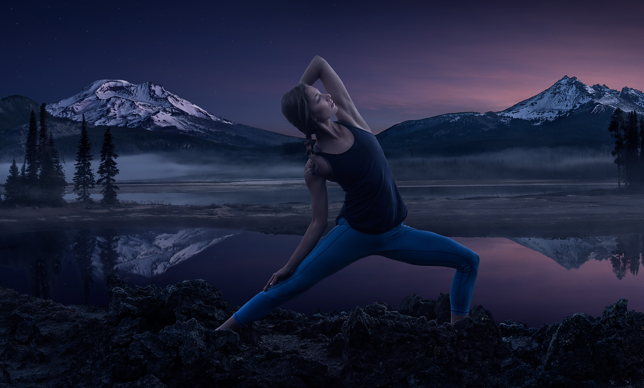 Meditative Yogi Awaits Sunrise | Zach Ancell Photography