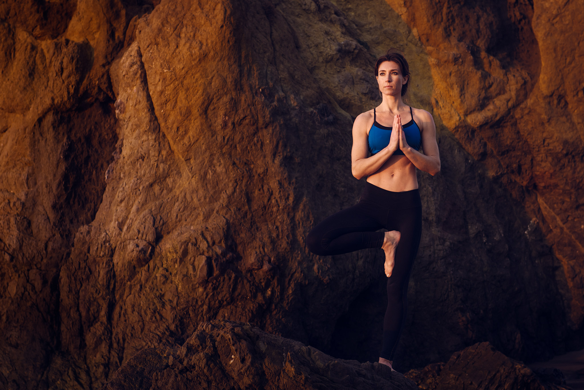 Yogi Balances on Rocky Terrain | Zach Ancell Photography