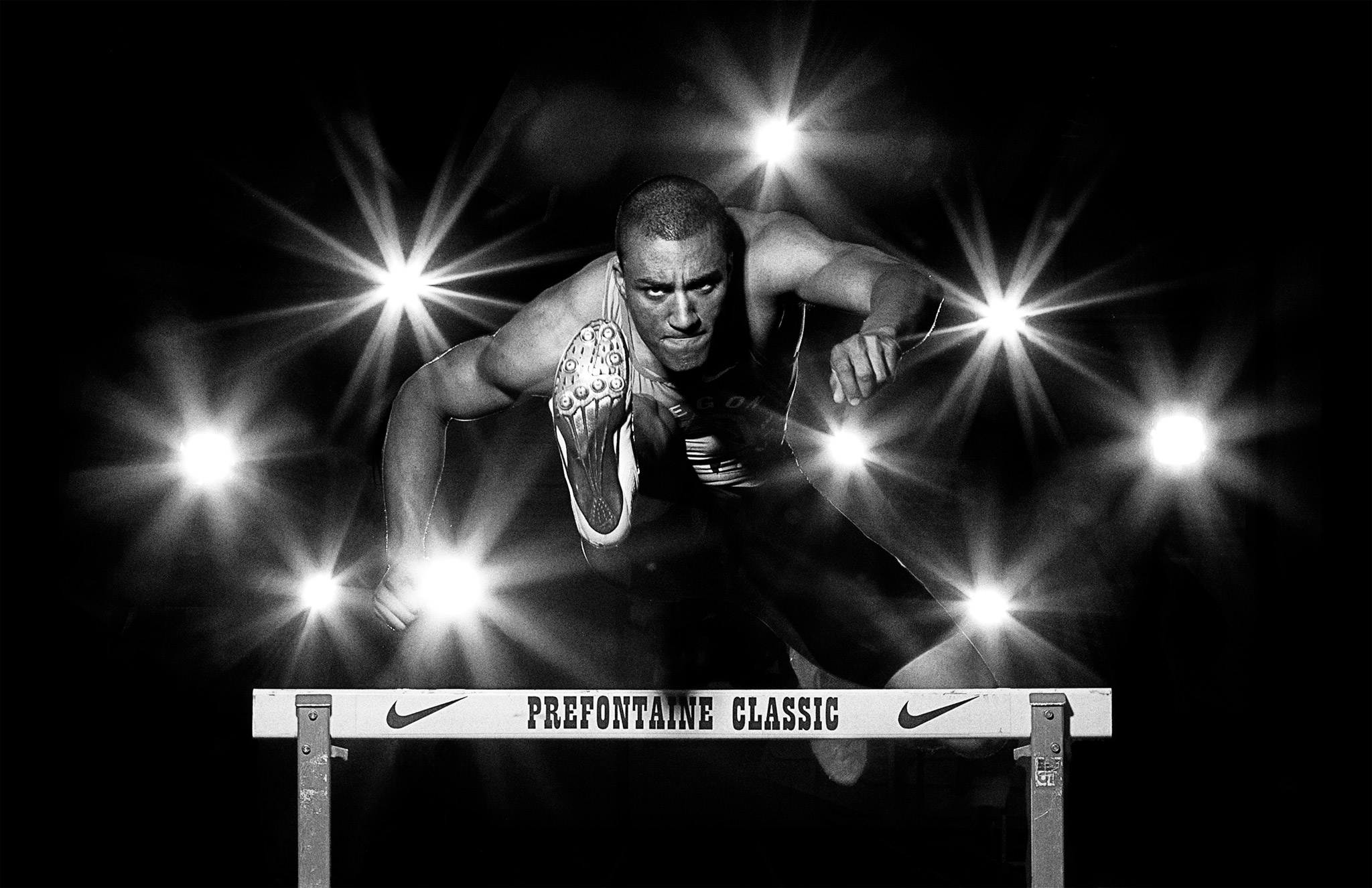 Ashton Eaton Clears Hurdle | Zach Ancell Photography
