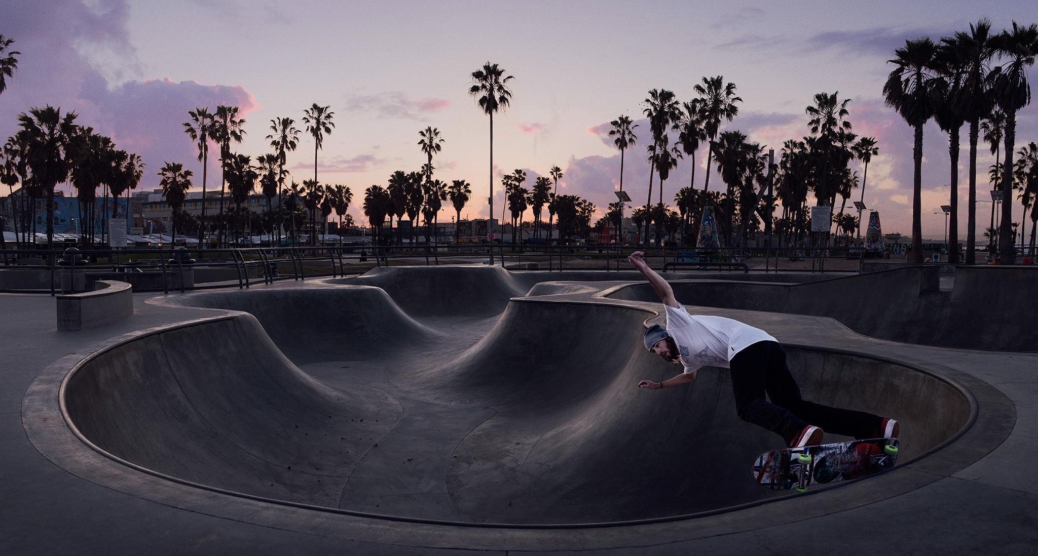 Early Morning Skateboarder at Venice Beach Skatepark | Zach Ancell Photographer