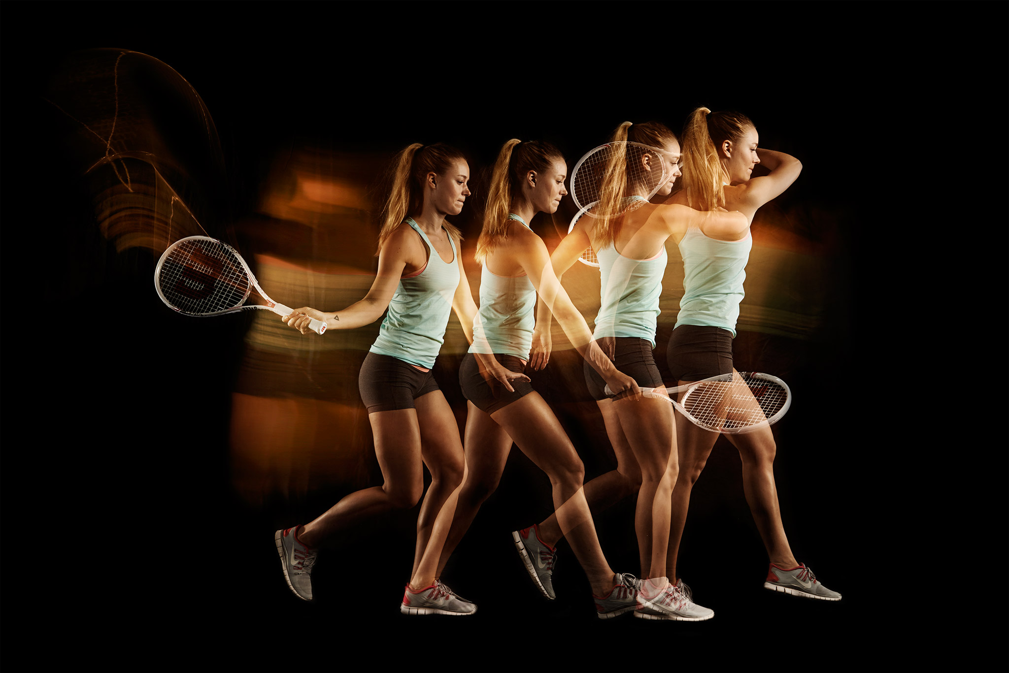 Tennis Forehand Trajectory | Zach Ancell Photography